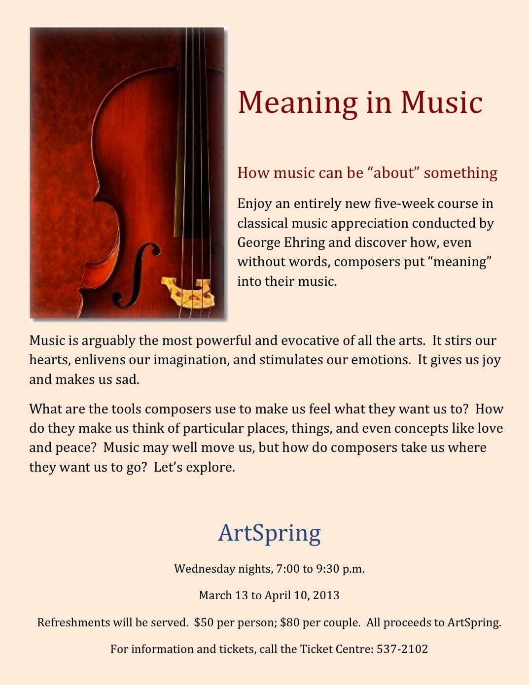 Meaning in Music advert 2