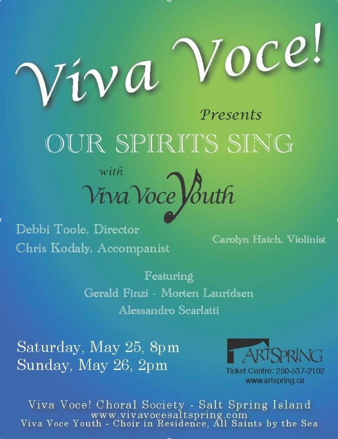 VIVA VOCE! PRESENTS OUR SPIRITS SING | ArtSpring
