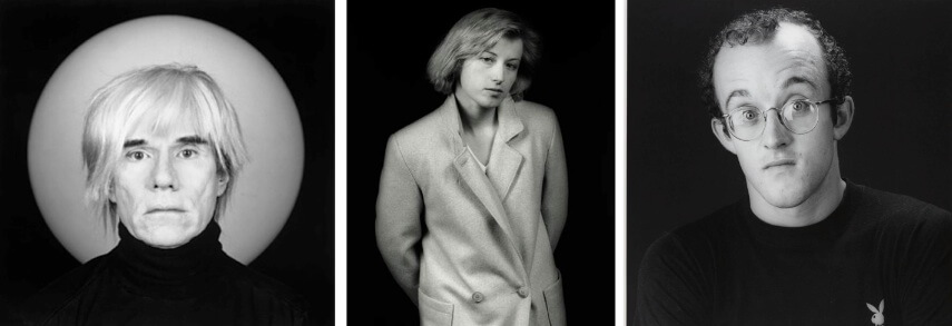 Portraits of Andy Warhol, Cindy Sherman and Keith Haring by Robert Mapplethorpe