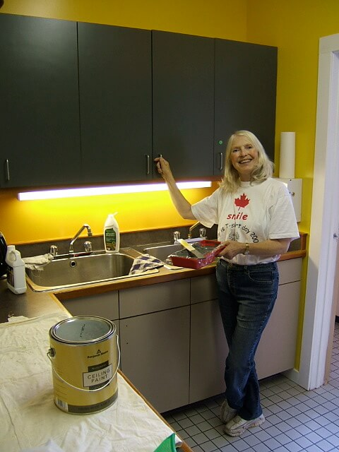 Judy Mclennan Painting Board Room and Kitchen - Sept 2015 III