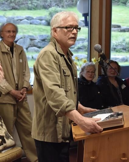 Volunteer of the Year recipient Bob Feske at the podium. Deb and Jeff Bee also received the Volunteer of the Year award. (Photo by David Borrowman)