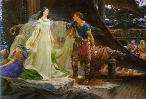 Tristan and Isolde depicted by Herbert Draper (1863-1920).