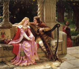 Tristan and Isolde depicted by Edmund Blair Leighton (1853-1922)